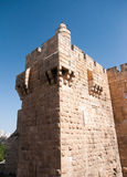 Old walls walk in Jerusalem Royalty Free Stock Image