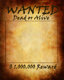 Old wanted paper Royalty Free Stock Image