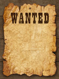 Old Wanted Posted. Wanted Poster Tacked on Wood Boards with Copy Space stock photos
