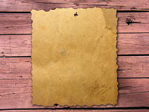 Old wanted poster Royalty Free Stock Images