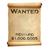 Old wanted poster Stock Photography