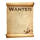 Old wanted poster Stock Photos
