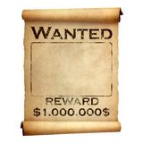 Old wanted poster Royalty Free Stock Image