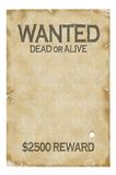 Old wanted poster. Insert your picture, product, object onto it Royalty Free Illustration
