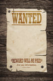 Old wanted sign. Stock Image