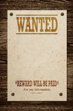 Old wanted sign. Royalty Free Stock Photography