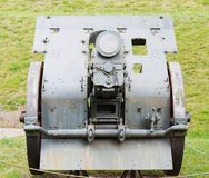 Old war cannon used in world war, detail Stock Image
