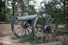 Old War Canon. A vintage canon used during the American Civil War stock images