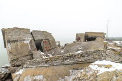 Old war fort ruins on the beach Royalty Free Stock Photography