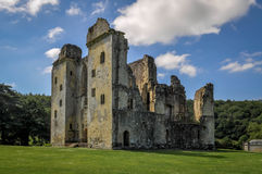 Old Wardour Castle. Is located at Wardour, near Tisbury, in the English county of Wiltshire. Also the filming location of the Robin Hood Movie royalty free stock images