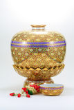 Old ware. Ancient ware of Thailand call Ben-ja-rong. Rare artifact stock image
