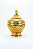 Old ware. Ancient ware of Thailand call Ben-ja-rong. Rare artifact royalty free stock photography