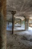 Old warehouse in an abandoned mill Stock Photos