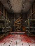 Old warehouse with blood Stock Images