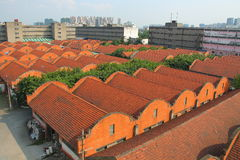 Old warehouse buildings of an old factory built by Russian people. Chengdu, China Stock Image