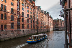 Old Warehouse District in the harbor of Hamburg 5 Stock Photography