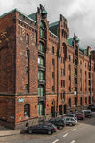 Old Warehouse District in the harbor of Hamburg 13 Royalty Free Stock Image