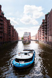 Old warehouse district Speicherstadt in Hamburg, Germany Royalty Free Stock Photos