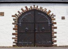 Old warehouse doors Royalty Free Stock Image