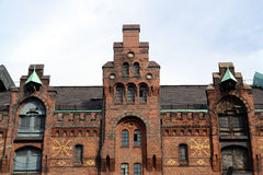 Old warehouse in Hamburg harbor. Germany royalty free stock images