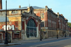 Old warehouse in Kronshtadt. Russia Stock Photo