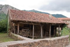 Old Warehouse in Mogrovejo. Stock Photos