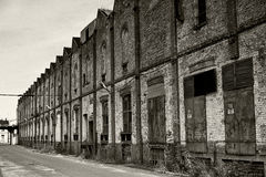 Old  warehouse in retro style Stock Photos