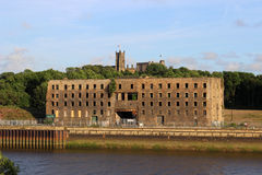Old warehouse St Georges Quay by R. Lune Lancaster Stock Images