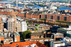 Old warehouses in Hamburg Stock Photos