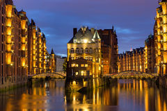 Old warehouses in Hamburg Stock Photography