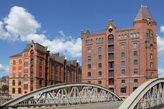 Old warehouses in Hamburg, Germany Stock Image