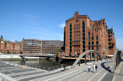 Old warehouses in Hamburg, Germany Stock Photo