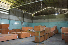 Old warehouses for storing items neatly. Royalty Free Stock Images