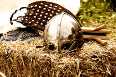 Old warrior helmet Stock Photography