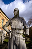 Old warrior statue in Berlin, Germany Royalty Free Stock Photos