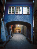 Old Warsaw courtyard. Color image Stock Photo