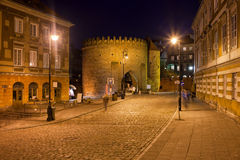 Old Warsaw at Night in Poland Royalty Free Stock Image
