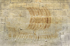 Old warship grafitti on stone wall. Old warship grafitti on castle wall at the Chateau royal de Provence, Tarascon, France stock photography