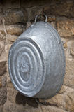 Old wash bucket. Old Galvanised wash bucket used for laundry and even taking a bath royalty free stock photo