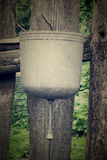 Old washbasin on the fence Stock Photography