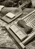 Old washboard Stock Photography
