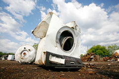 Old washing machine Stock Images