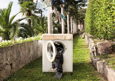 Old washing machine Royalty Free Stock Photography