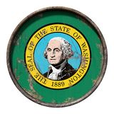 Old Washington flag Royalty Free Stock Photos