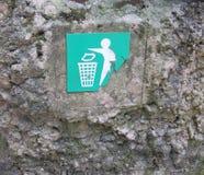 An old waste bin. An old concrete waste or litter bin Stock Image