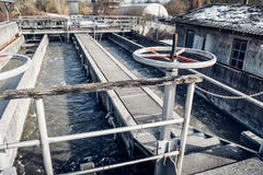 Old Waste water treatment plant Royalty Free Stock Images