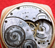 Old Watch. Mechanism close up royalty free stock photo