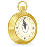 Old watch. Illustration of golden old watch Stock Photo