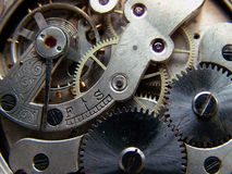 Old Watch. Old parts hours made nineteenteenth age Stock Image