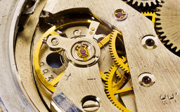 The old watch. The mechanism, gears, springs Royalty Free Stock Image